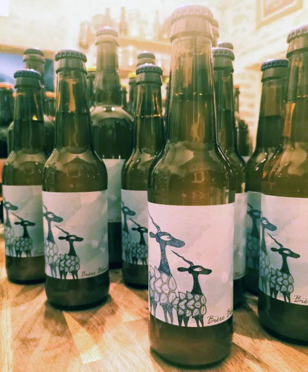 bière blanche bouteille