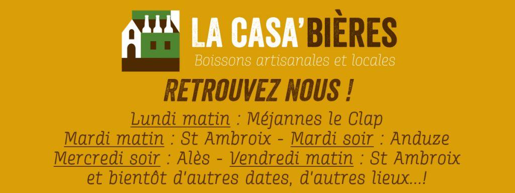 dates de marchés été 2019 la casa'bières