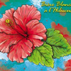 Bière banche à l'hibiscus brassée par la Casa'Bières